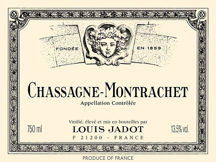 Louis Jadot Chassagne-Montrachet (375ML Half-bottle) 2017  Front Label