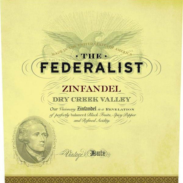 The Federalist Dry Creek Valley Zinfandel 2019  Front Label