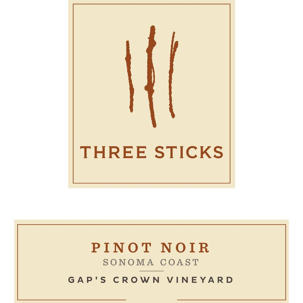 Three Sticks Gap's Crown Vineyard Pinot Noir 2018  Front Label