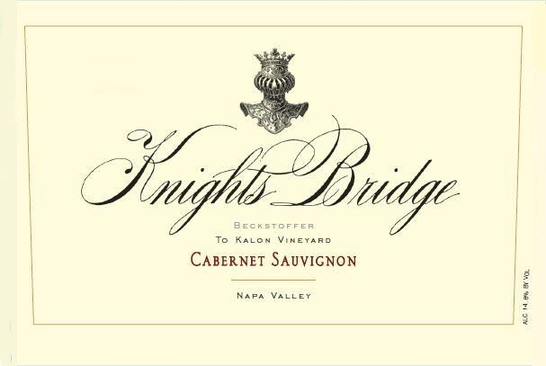 Knights Bridge To Kalon Vineyard Cabernet Sauvignon 2013 Front Label
