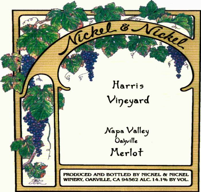 Nickel & Nickel Harris Vineyard Merlot 2000  Front Label