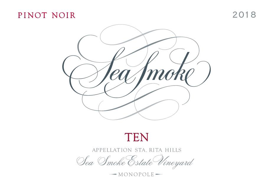 Sea Smoke Cellars Ten Pinot Noir 2018  Front Label