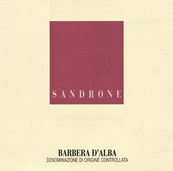 Sandrone Barbera d'Alba 2016 Front Label