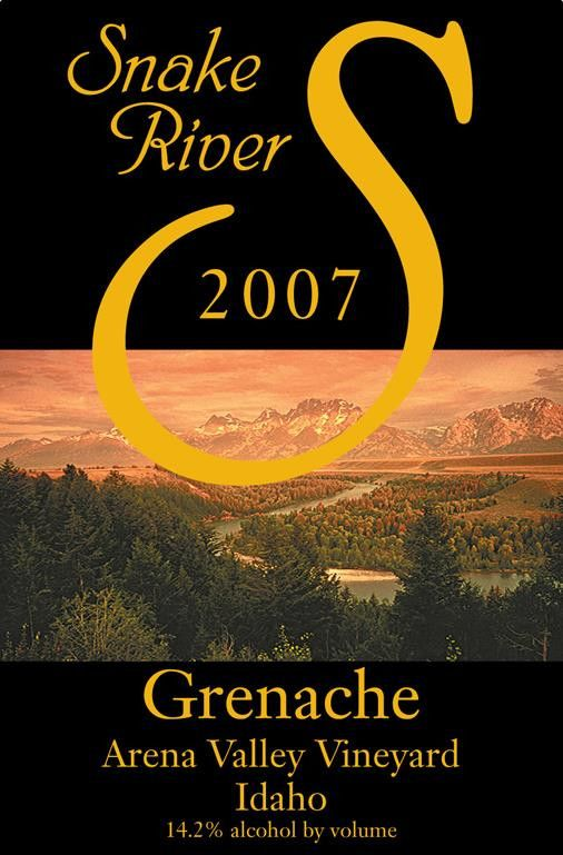 Snake River Winery Arena Valley Vineyard Grenache 2007 Front Label