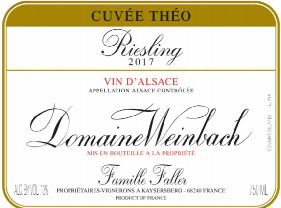 Domaine Weinbach Cuvee Theo Riesling 2017  Front Label