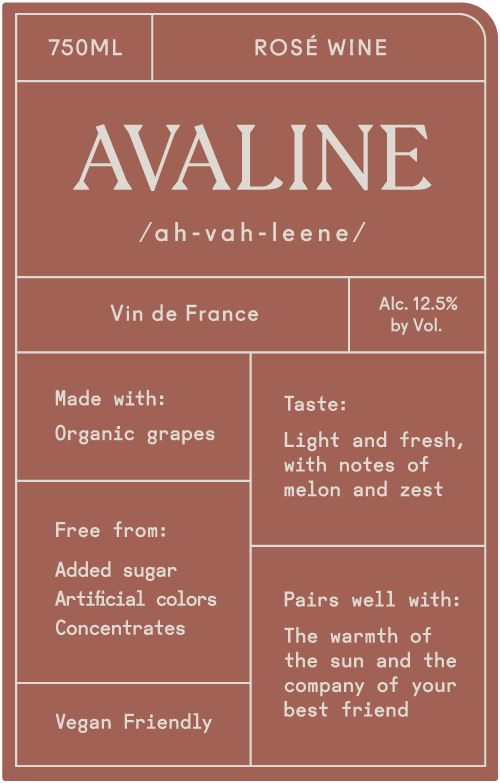 Avaline Rose  Front Label