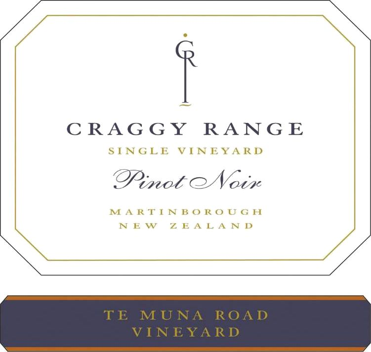 Craggy Range Winery Te Muna Road Vineyard Pinot Noir 2017 Front Label