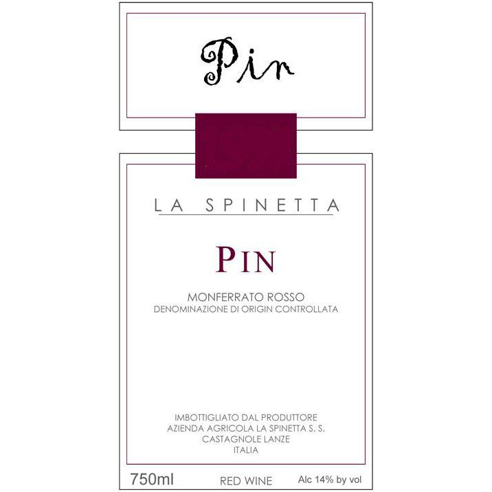 La Spinetta Pin Monferrato Rosso 2000  Front Label