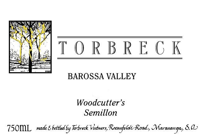 Torbreck Woodcutter's Semillon 2015  Front Label