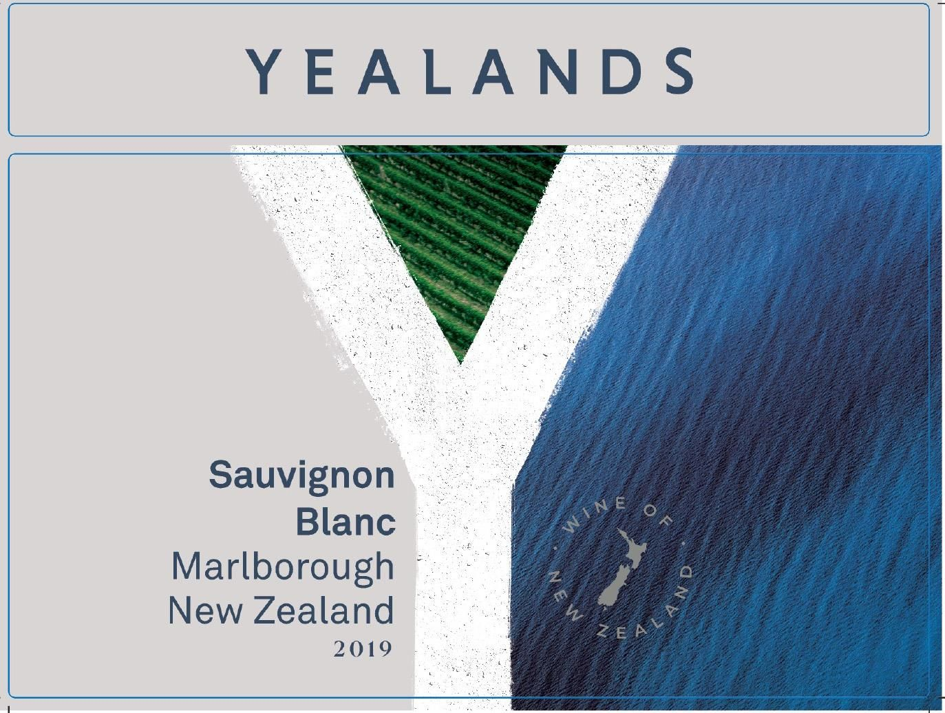 Yealands Sauvignon Blanc 2019 Front Label
