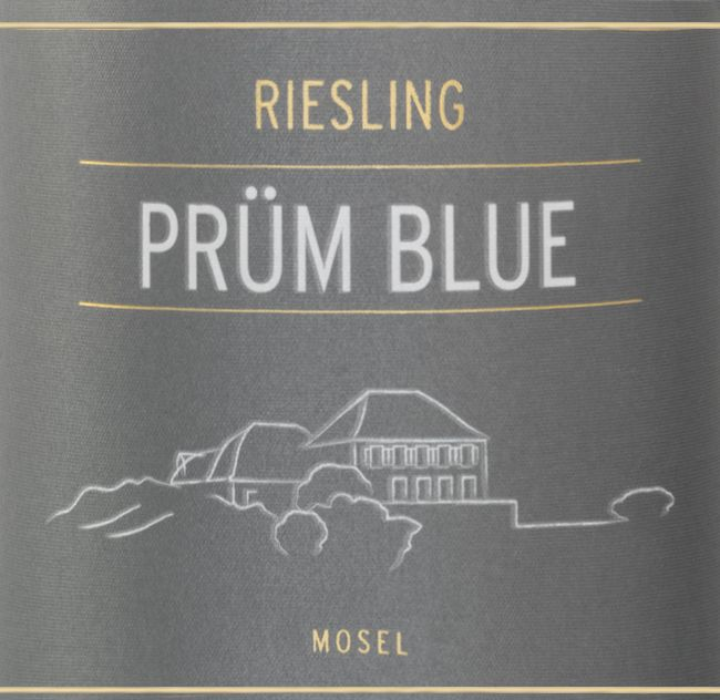 S.A. Prum Blue Riesling Kabinett 2016  Front Label