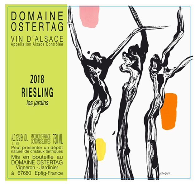 Ostertag Les Jardins Riesling 2018 Front Label