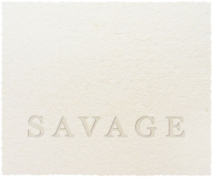 Savage White Blend 2017  Front Label