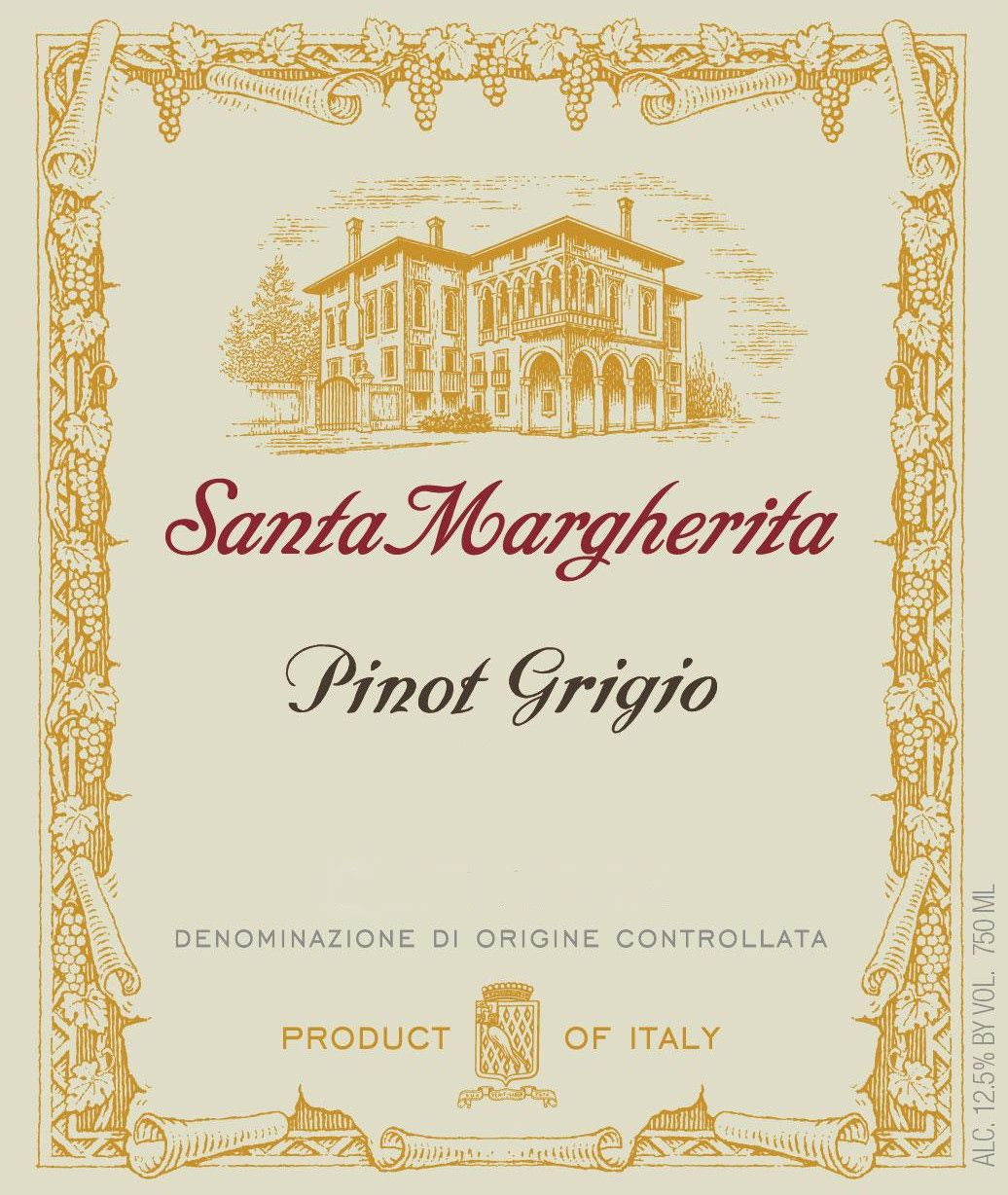 Santa Margherita Pinot Grigio (375ML half-bottle) 2018  Front Label