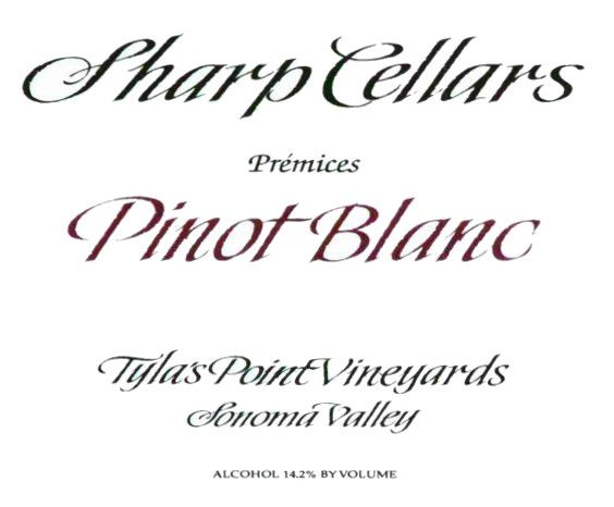 Sharp Cellars Tyla's Point Vineyards Pinot Blanc 2006  Front Label