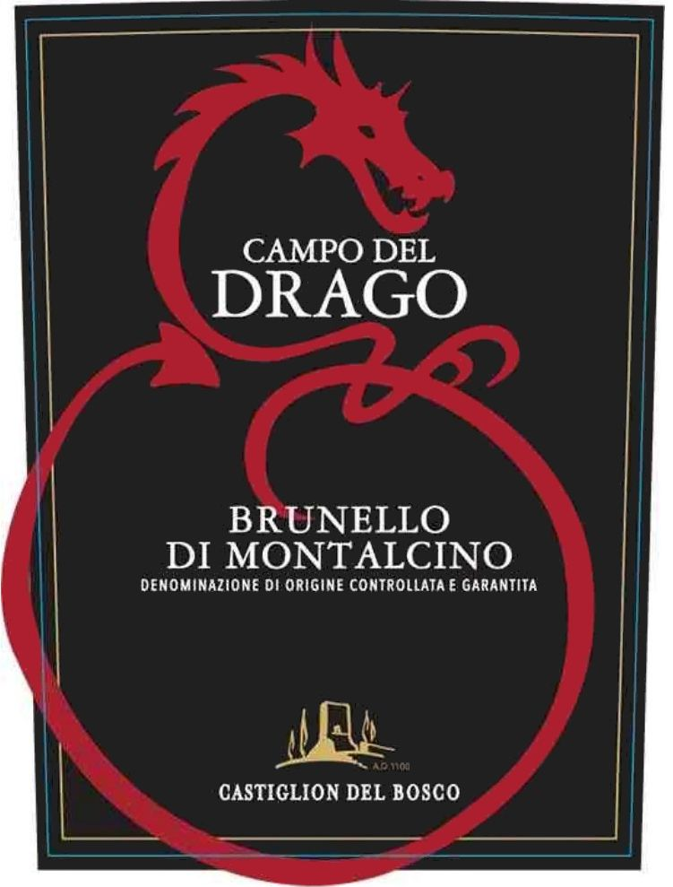 Castiglion del Bosco Brunello di Montalcino Campo del Drago 2015  Front Label