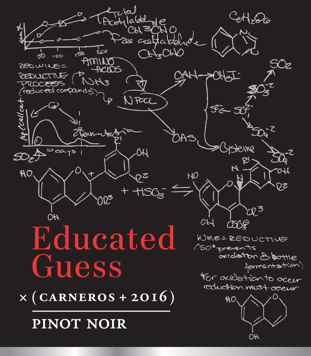 Roots Run Deep Educated Guess Pinot Noir 2016 Front Label