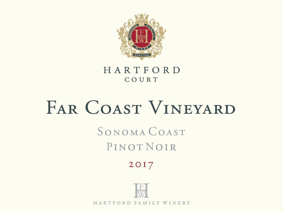 Hartford Court Far Coast Pinot Noir 2017  Front Label