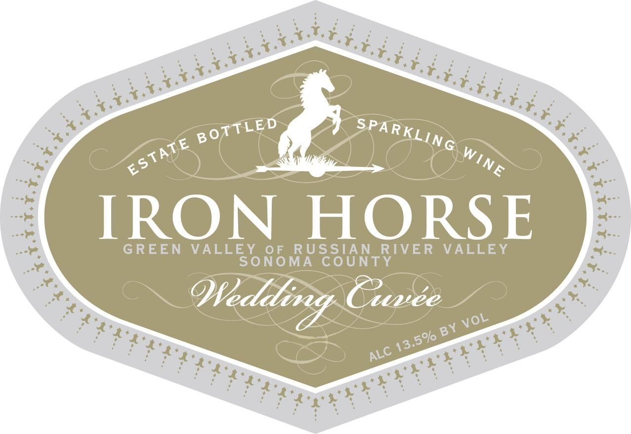 Iron Horse Wedding Cuvee 2016  Front Label