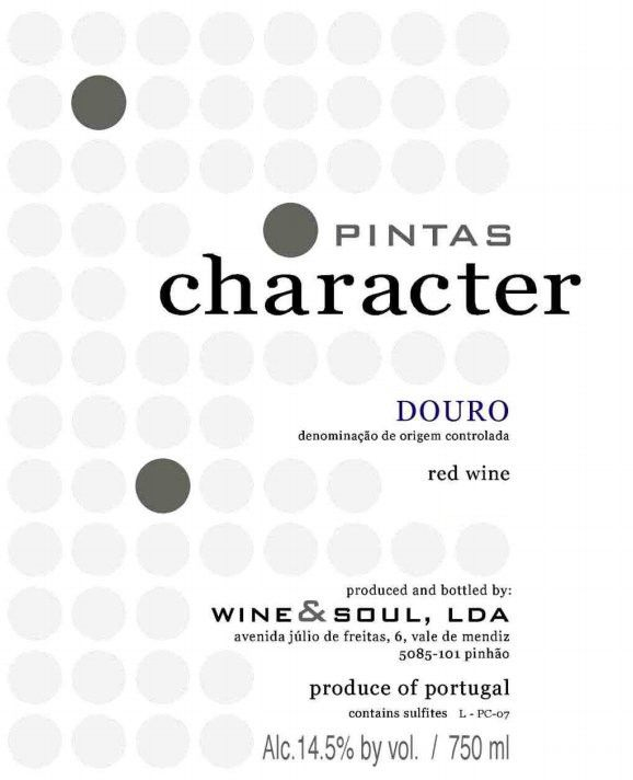 Wine & Soul Pintas Character Red 2016  Front Label