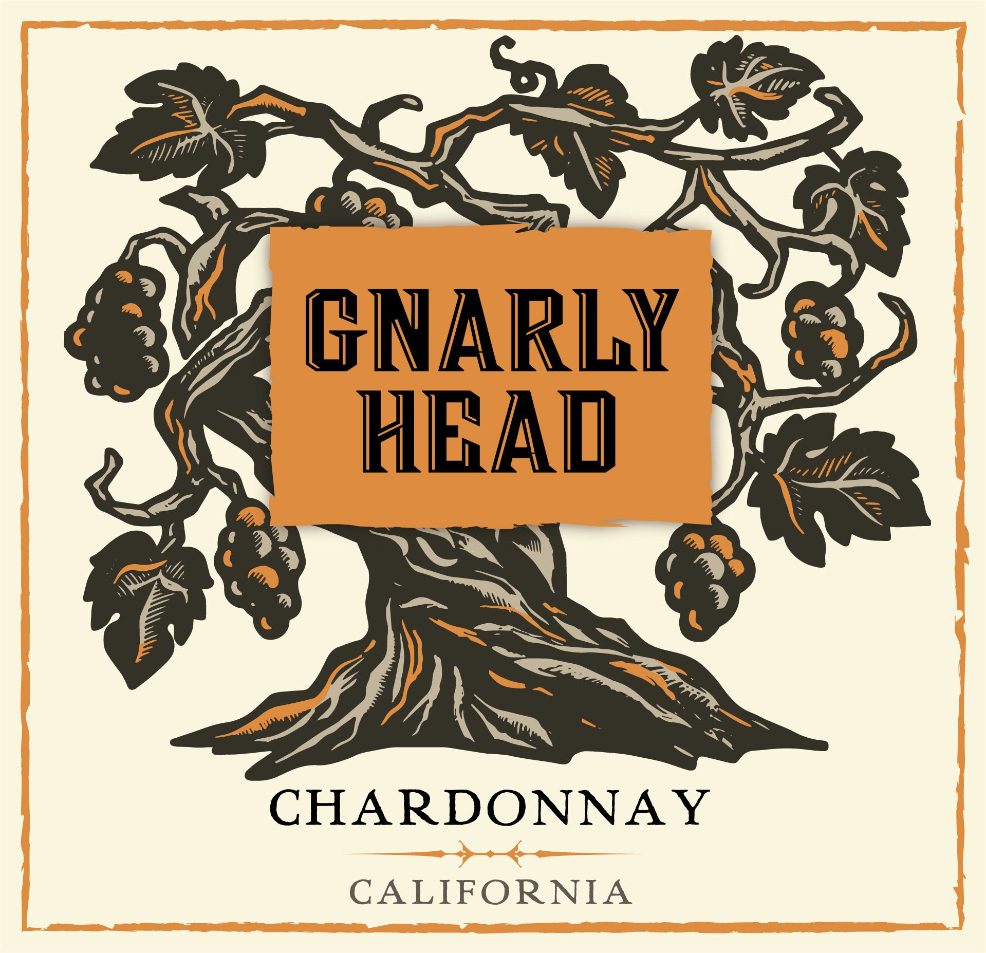 Gnarly Head Chardonnay 2018  Front Label