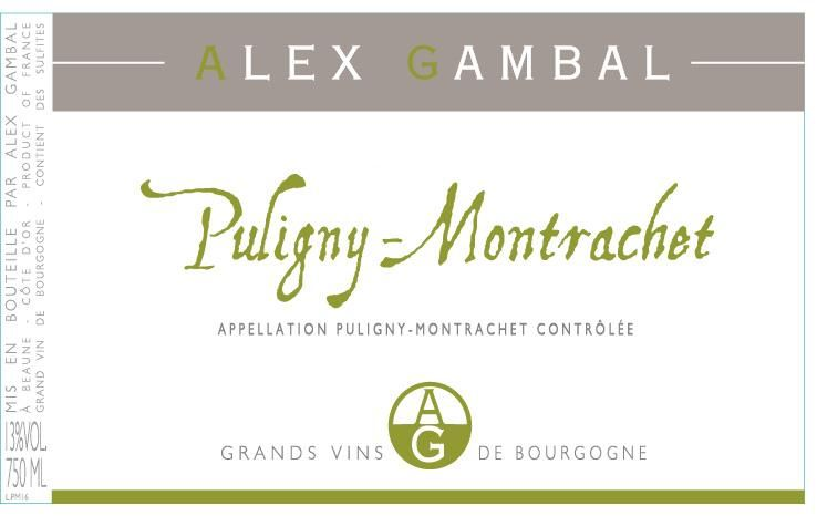 Alex Gambal Puligny-Montrachet 2017  Front Label