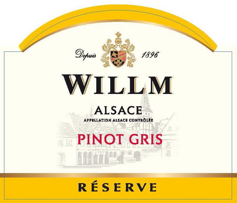 Alsace Willm Pinot Gris Reserve 2019  Front Label