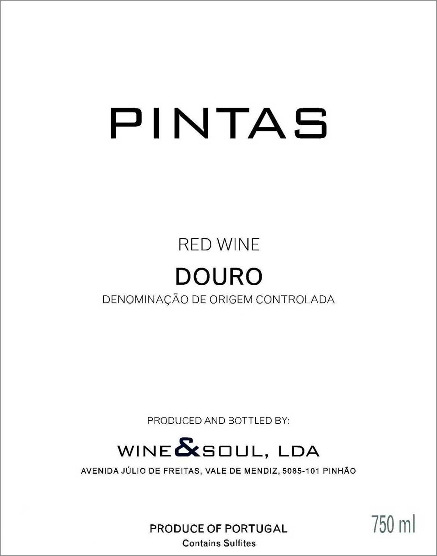 Wine & Soul Pintas 2017  Front Label