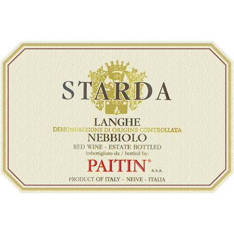 Paitin Starda Langhe Nebbiolo 2018  Front Label