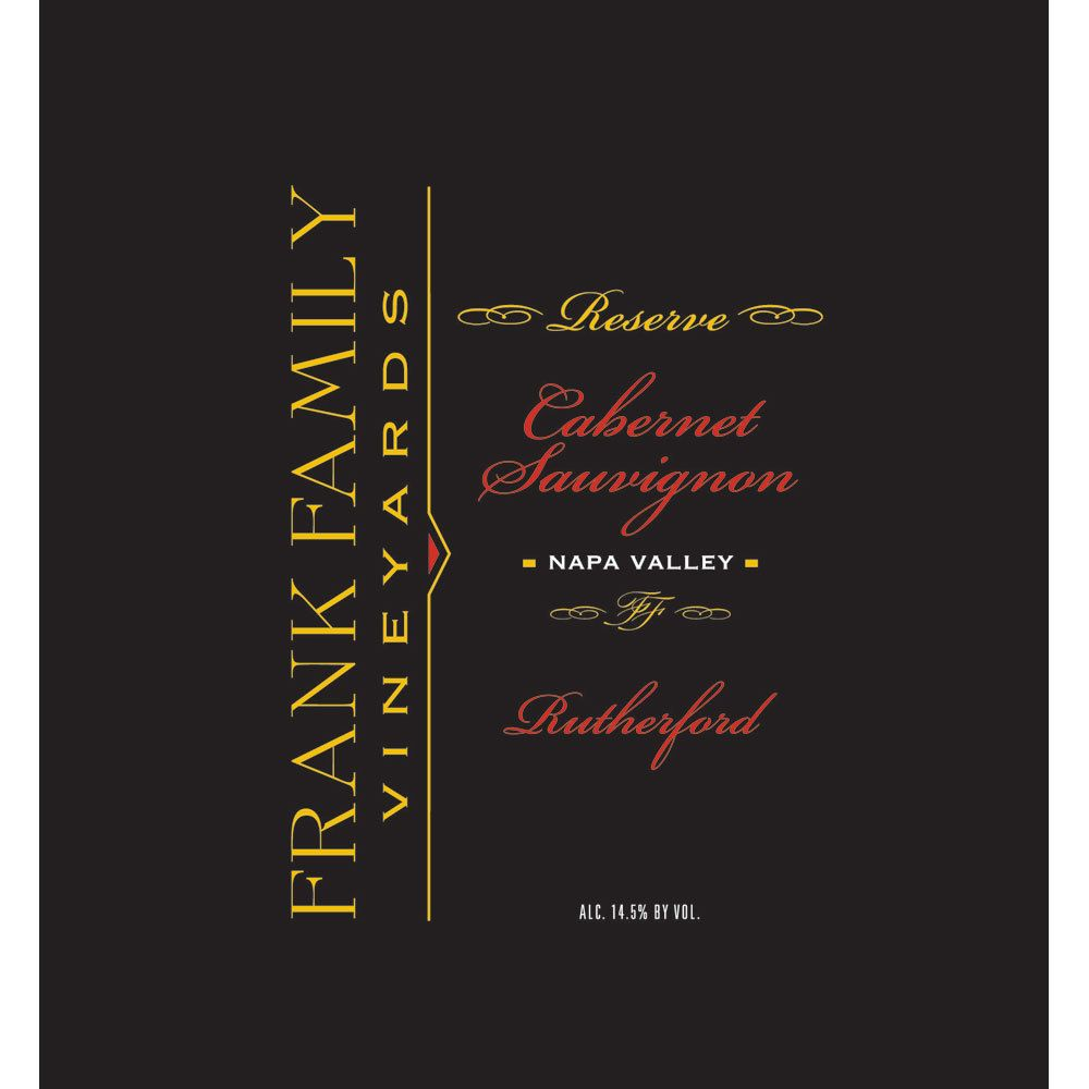 Frank Family Vineyards Reserve Cabernet Sauvignon 2007  Front Label