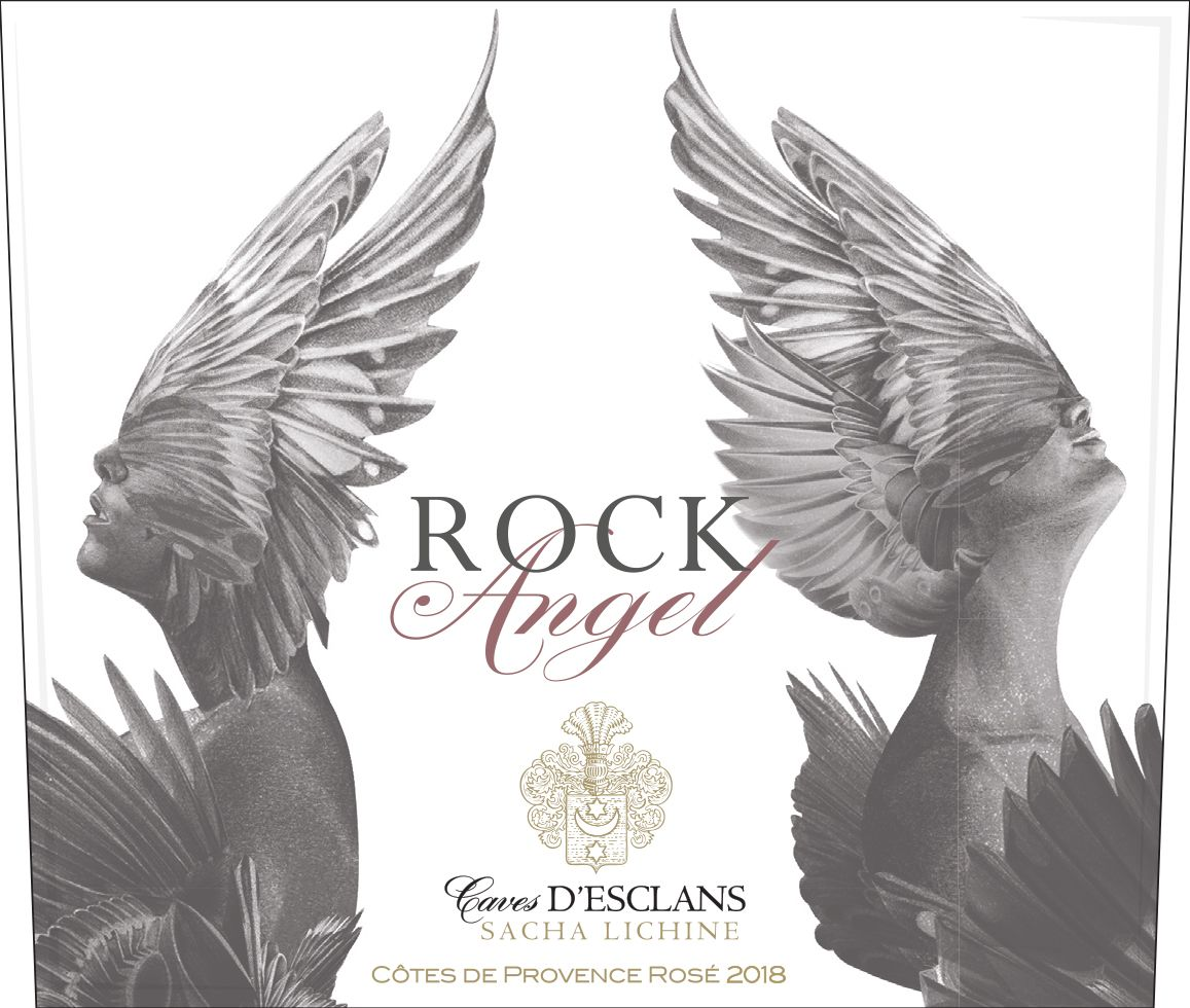 Chateau d'Esclans Rock Angel Rose 2018  Front Label