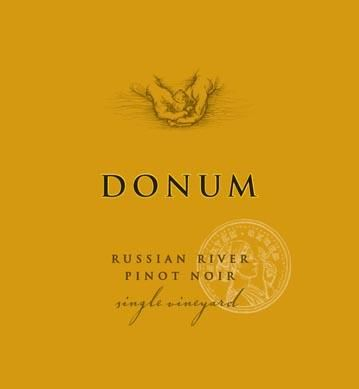 The Donum Estate Russian River Valley Pinot Noir 2015 Front Label