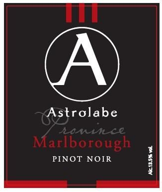 Astrolabe Province Pinot Noir 2016 Front Label