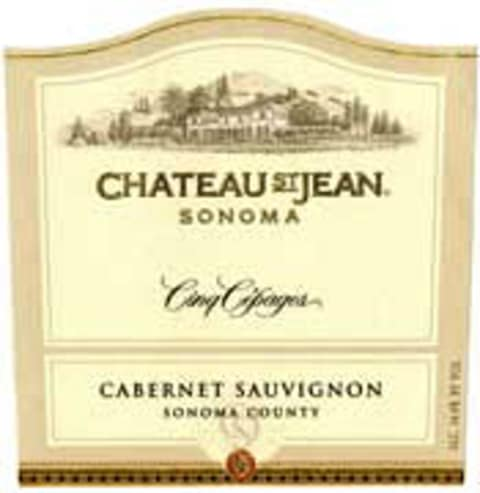 Chateau St. Jean Cinq Cepages 2001  Front Label