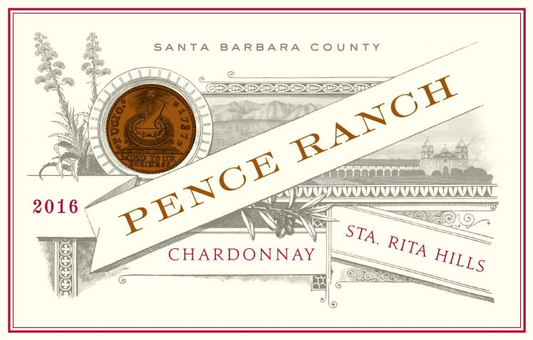 Pence Pence Ranch Chardonnay 2016  Front Label