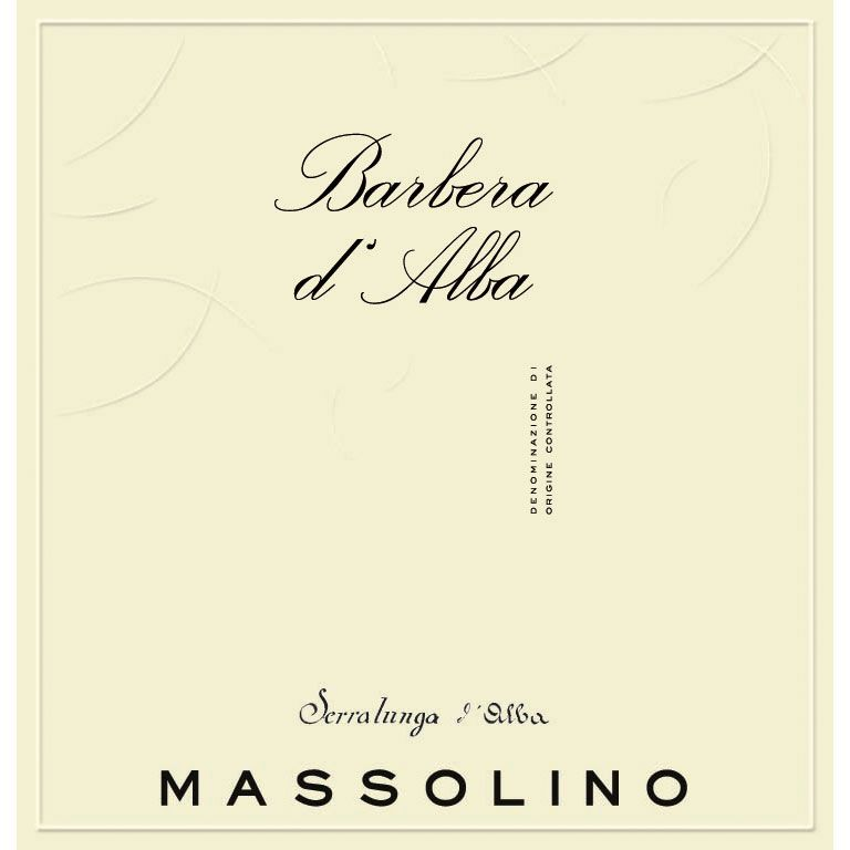 Massolino Barbera d'Alba 2017  Front Label