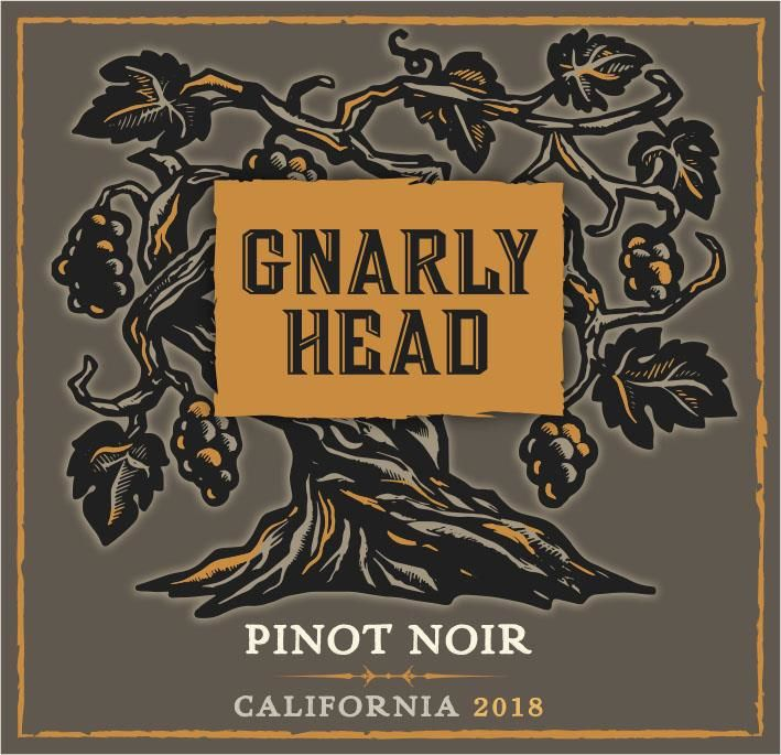 Gnarly Head Pinot Noir 2018  Front Label