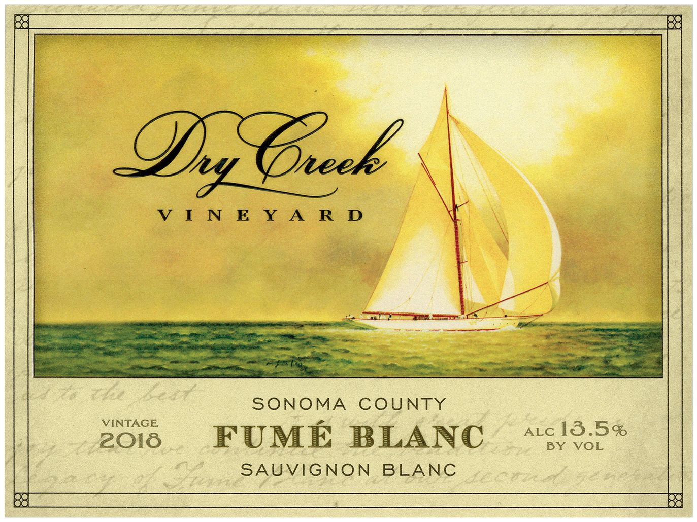 Dry Creek Vineyard Fume Blanc 2018  Front Label