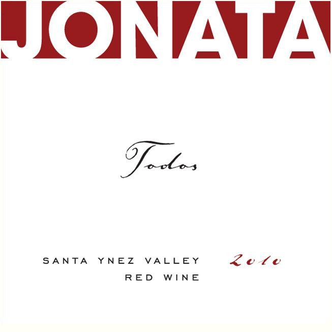 Jonata Todos Proprietary Red Wine 2010  Front Label