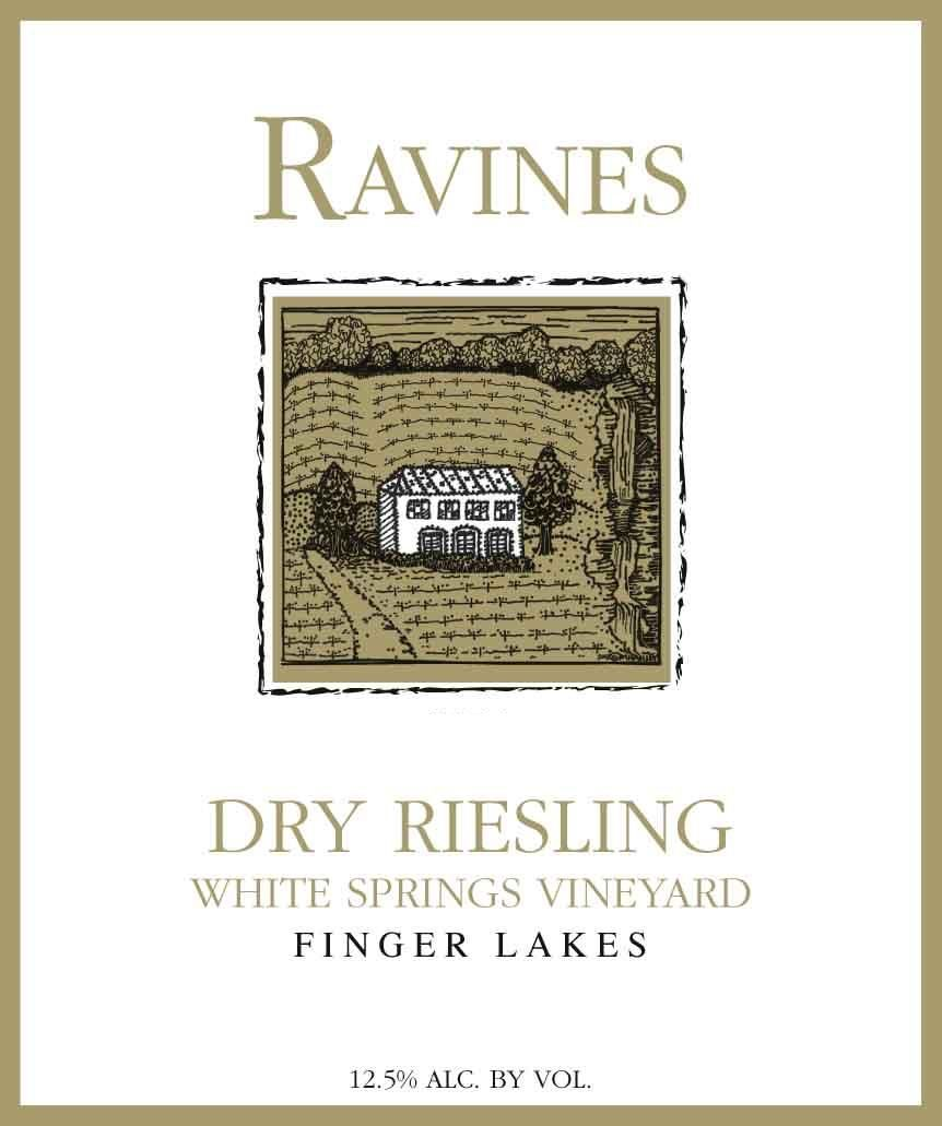 Ravines White Springs Vineyard Dry Riesling 2016 Front Label