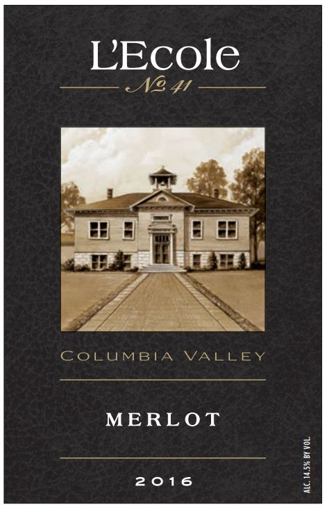L'Ecole 41 Columbia Valley Merlot 2016  Front Label