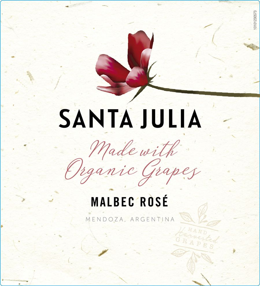 Santa Julia Organic Malbec Rose 2020  Front Label