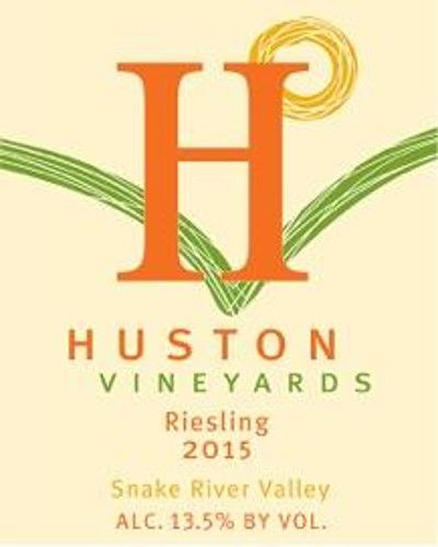 Huston Vineyards Riesling 2015 Front Label