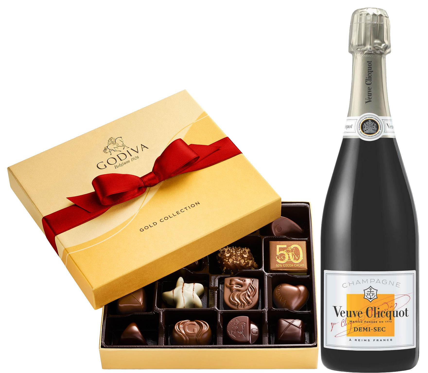 Veuve Clicquot Demi-Sec & Godiva Chocolates Gift Set  Gift Product Image