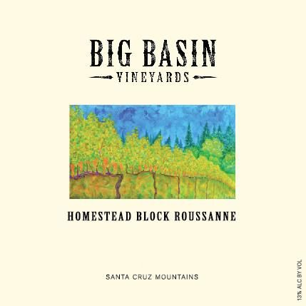 Big Basin Homestead Block Roussanne 2015 Front Label