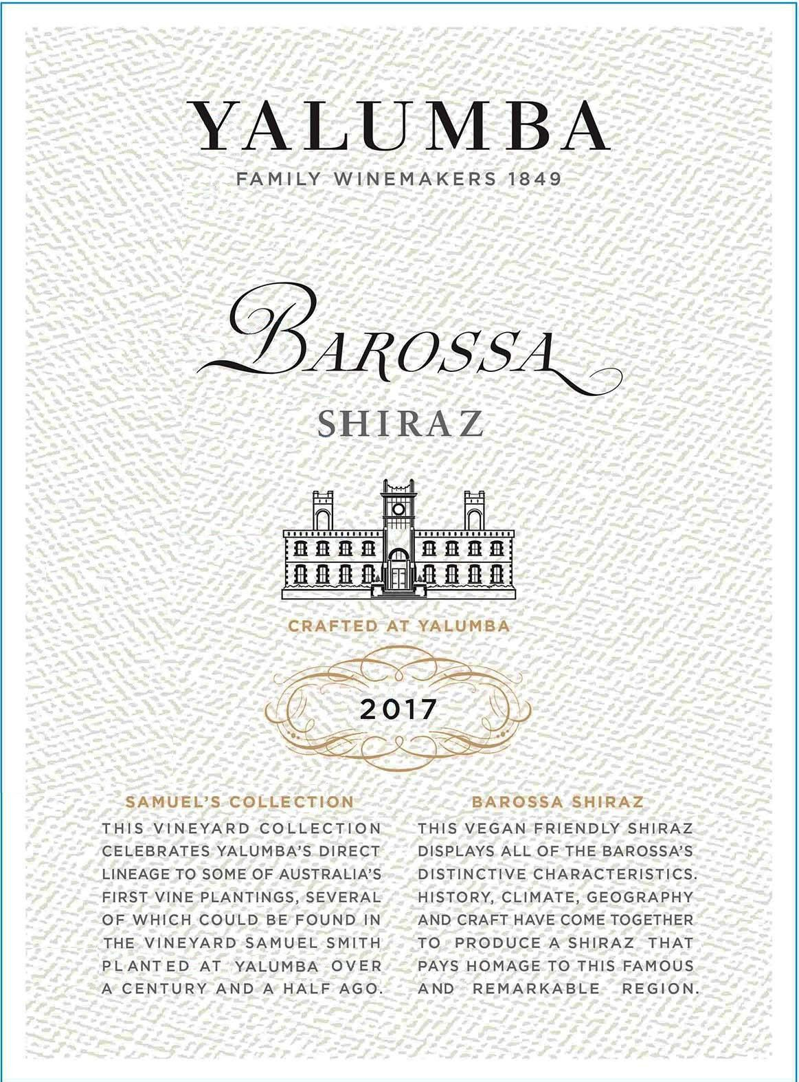 Yalumba Samuel's Collection Shiraz 2017 Front Label