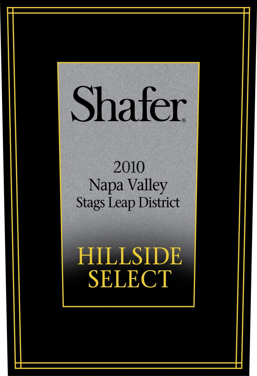 Shafer Hillside Select Cabernet Sauvignon 2010  Front Label