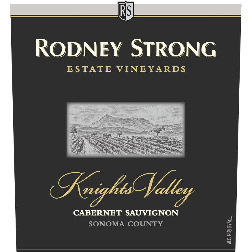 Rodney Strong Knights Valley Estate Cabernet Sauvignon 2016  Front Label