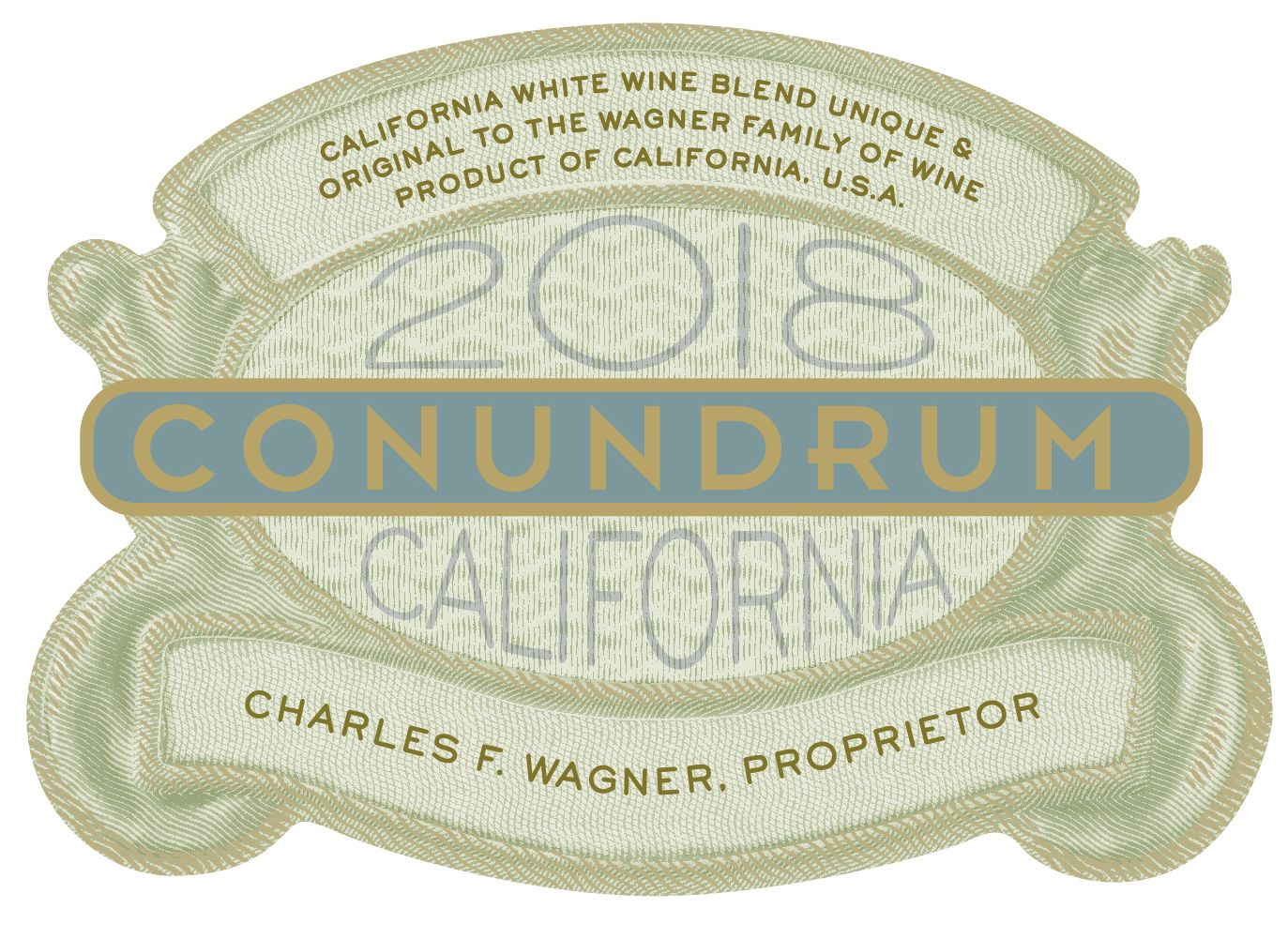 Conundrum White Blend 2018  Front Label