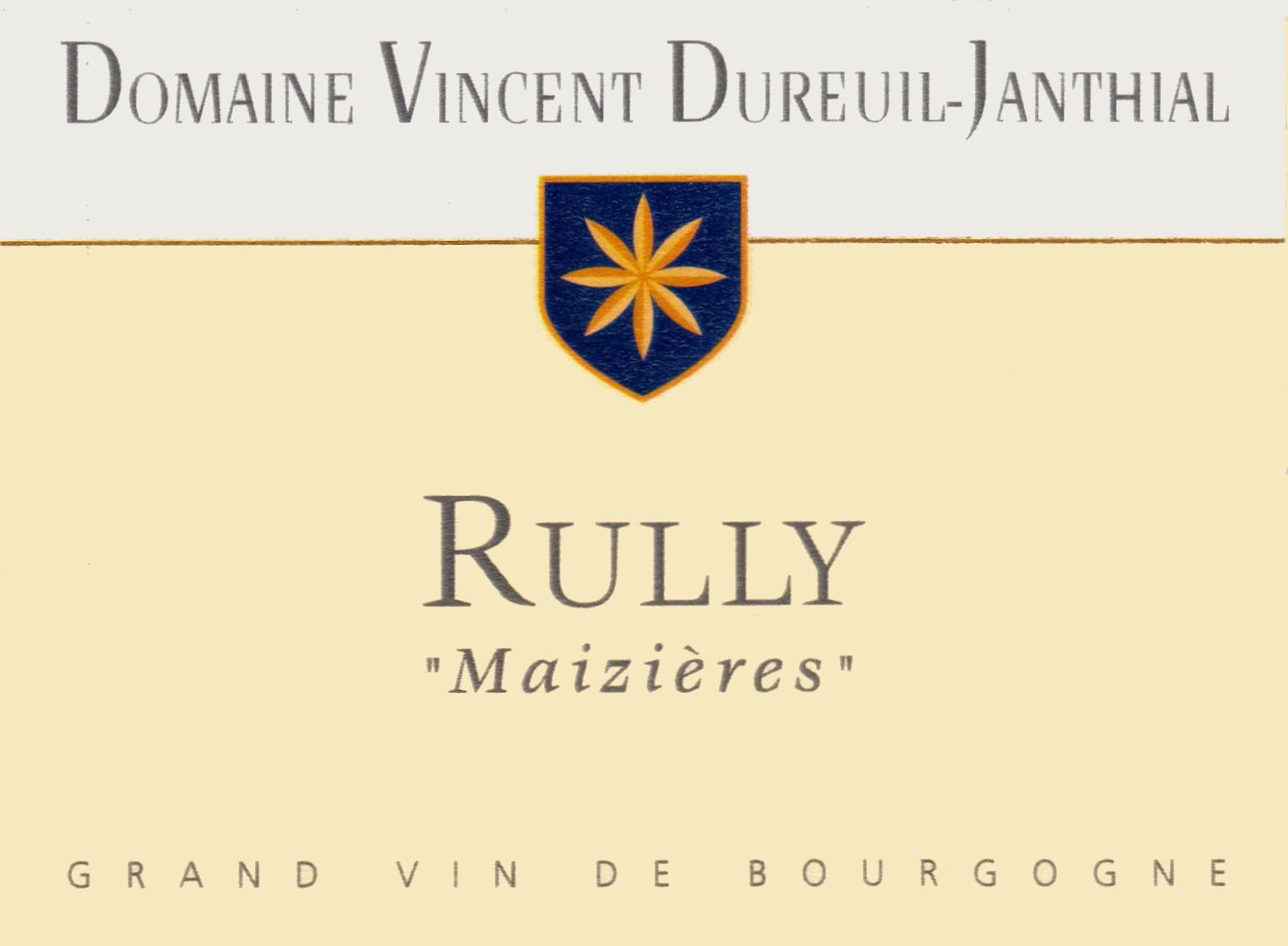 Dureuil-Janthial Rully Maizieres Blanc 2015 Front Label